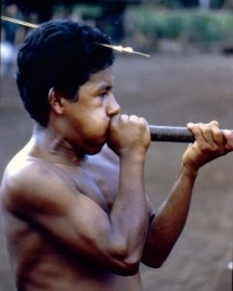 native with blowpipe